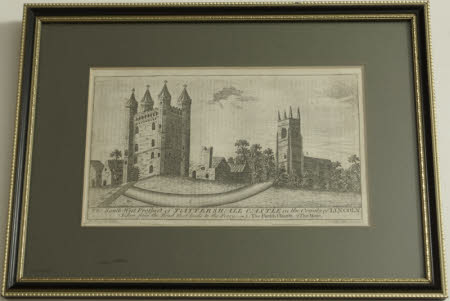 Tattershall Castle and Church, Lincolnshire, from the south west (after Thomas Allom)