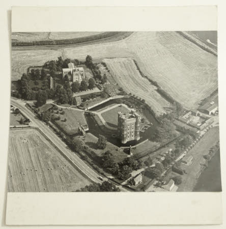 Aerial view of Tattershall Castle and surroundings