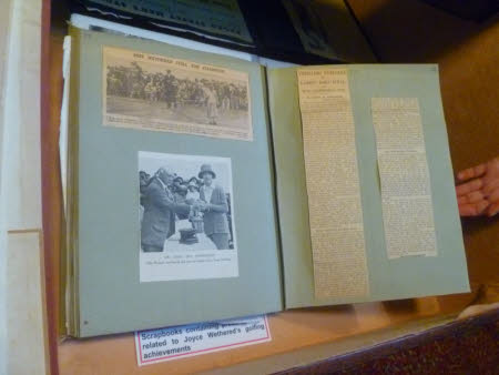 Scrap book containing press-cuttings related to Joyce Newton Wethered, Lady Heathcoat Amory (1901 - ...