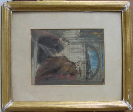 Sketch for Elizabeth Woodville, Queen Dowager of Edward IV delivering up her Son Prince Richard, ...
