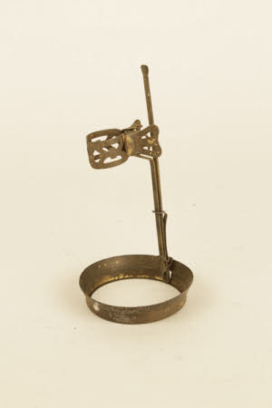 Brass 'stand' with butterfly clasp