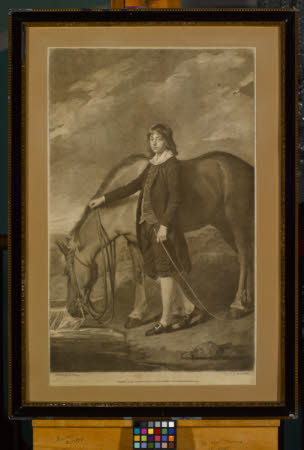 John Wharton Tempest (1772–1793) with a Horse (after George Romney)