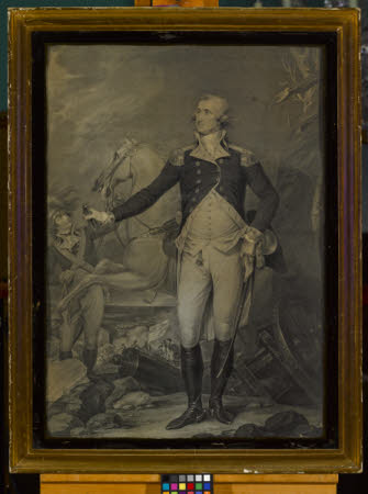 General George Washington (1732-1799) with his horse (after John Trumbull)