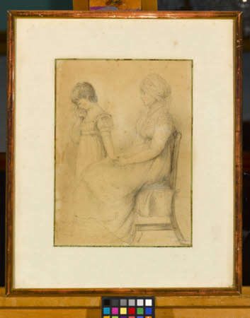 Lady Frances Pratt, Marchioness of Londonderry (1750-1833)  with her daughter Lady Octavia ...