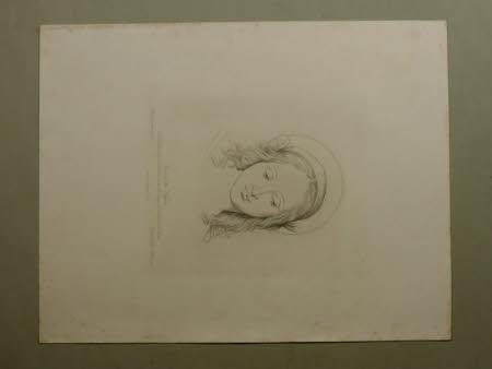 Head of the Virgin by Giovanni Antonio Boltraffio formerly attributed to Leonardo da Vinci, in the ...