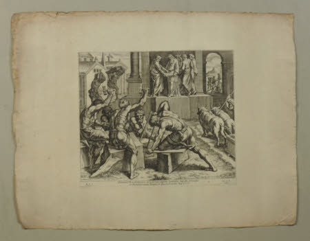 The Building of the Temple by Solomon (after Raphael)