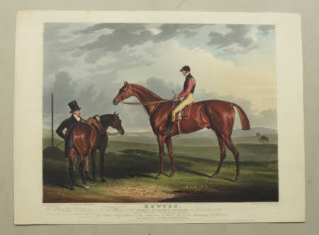 'Rowton', the winner of Great St. Leger stakes, at Doncaster 1829 (after John E. Ferneley)