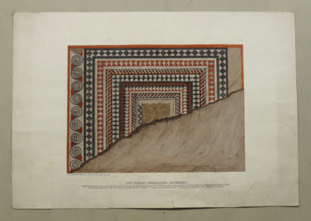 The Roman Tesselated Pavement discovered December, 1854, in the Castle Field, St.Matthew's, ...