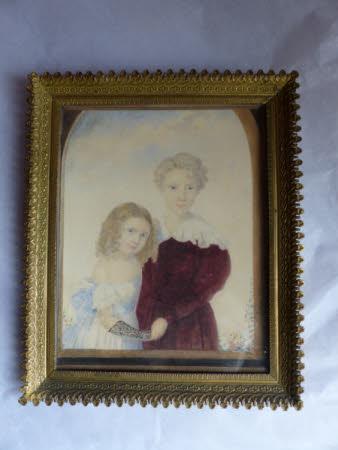 Courtenay Throckmorton (1831-1854) and his sister Mary Elizabeth Throckmorton (1832-1919) as ...