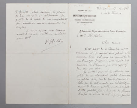 Letter regarding French translation of Peter Rabbit