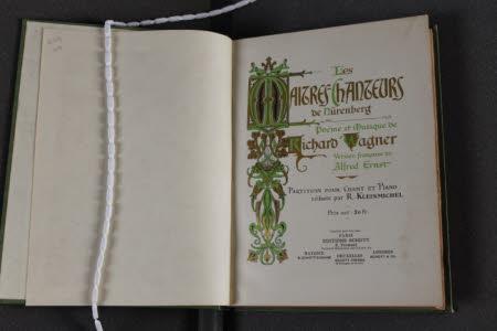 Les maitres-chanteurs de Nurenberg.. Poème et musique de Richard Wagner. Version francaise de ...