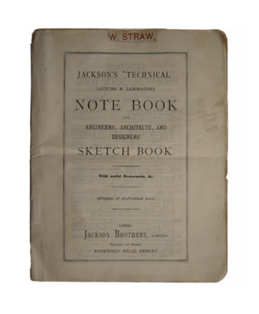 """Jackson's """"Technical"""" lecture & laboratory note book and engineers', architects', and designers' ..."""
