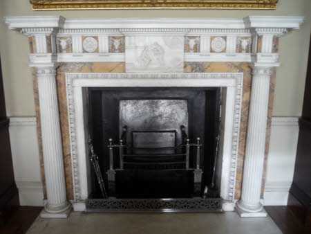 The Library fireplace
