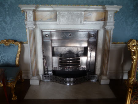 The Dressing Room fireplace