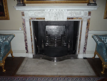 The Music Room fireplace