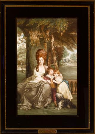 Lady Elizabeth Howard, Lady Elizabeth Delmé (1746-1813) and her children Isabella Elizabeth Howard ...