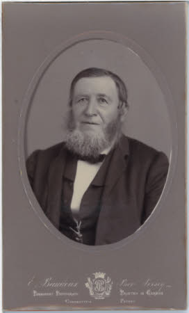 Unknown bearded man, head and shoulders view