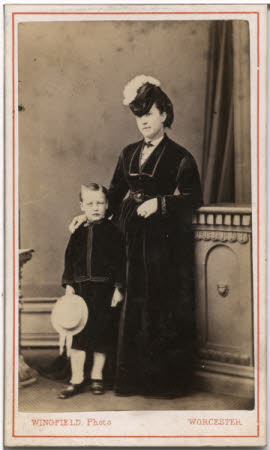 Portrait of a woman and a young boy