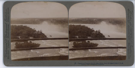 Niagara and its great cloud of rising Spray - from the distant tower, U.S.A