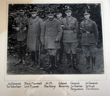 King George V (1865–1936) with Lieutenant General Sir John Lindesay Keir KCB (1856–1937), ...