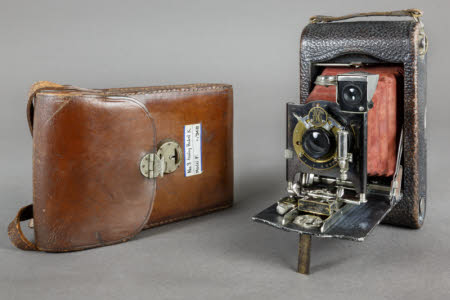 A No. 3 Folding Pocket Kodak camera, Model F