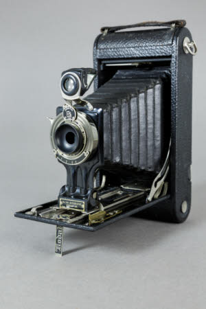 A Kodak No 3A Autographic Junior model A folding rollfilm camera