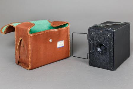 Ensign Box Camera in canvas case