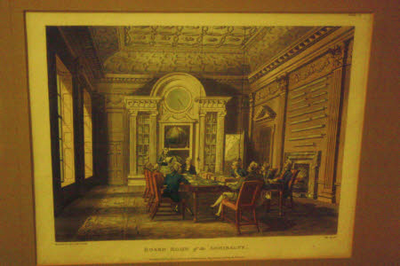 The Board Room of the Admiralty (after Augustus Charles Pugin after Thomas Rowlandson)