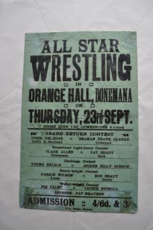Wrestling event poster