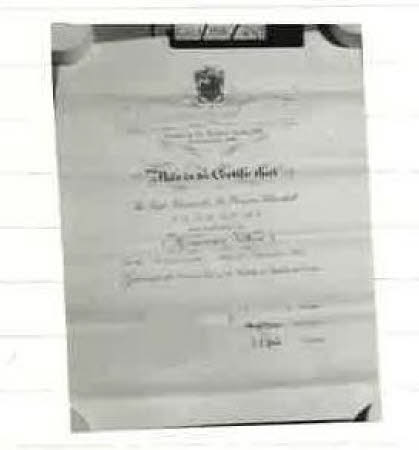 Awarded to WSC as Hon Fellowship of the Institute of Builders 1961