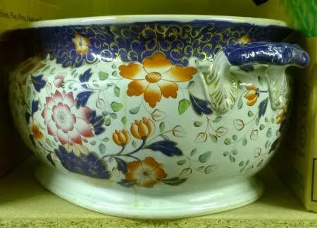 Oval ceramic jardiniere