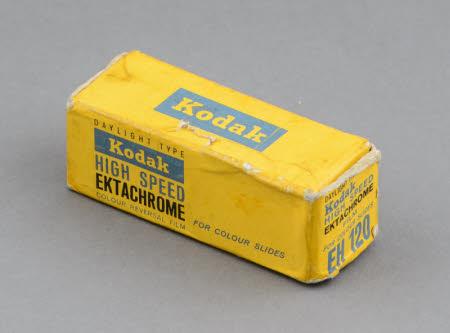Kodak High Speed Ektachrome EH120 colour reversal film for colour slides; unopened pack.