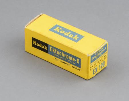Kodak Ektachrome-X film for colour slides; unopened pack.