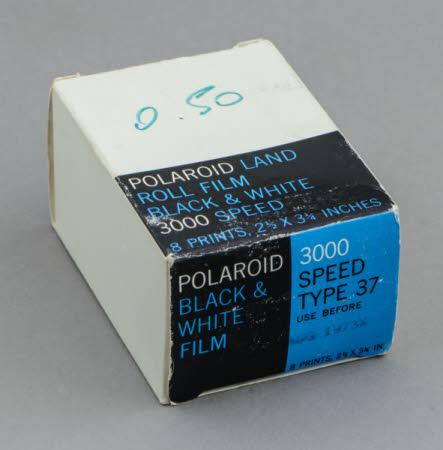 Polaroid Land Film, Black & White, 3000 Speed, Type 37.