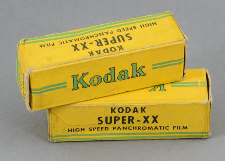 Two unopened boxes of Kodak Super-XX 616 high speed panchromatic film.