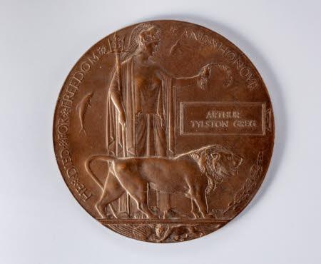Bronze Memorial Plaque of Arthur Tylston Greg (1894-1917)