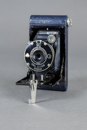 Girl Guide Kodak miniature folding rollfilm camera.