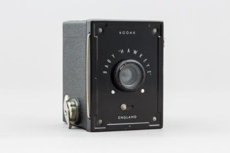 A Kodak Ltd., Baby Hawkeye small box camera.