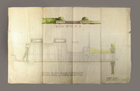Revised 1/8 Scale Drawing of Terrace At Wightwick Manor for Geoffrey Mander, Esq.