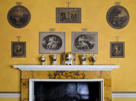 Five-piece Barr, Flight and Barr-factory garniture de cheminée displayed in the Print Room at Blickling Hall © National Trust Images / Robert Morris