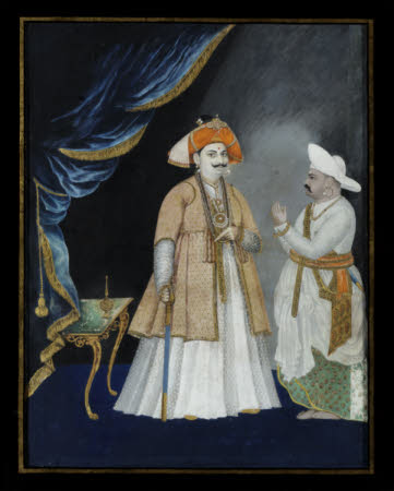 Maharaja Sarabhoji of Tanjore (c.1798-1832) with a Minister