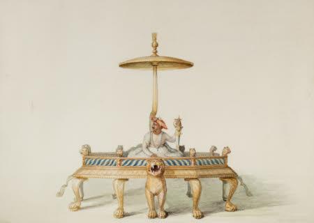 Tipu Sahib Sultan (1749-1799) Enthroned