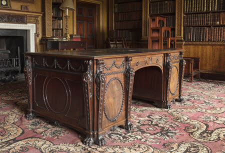 The Nostell Priory 'large mahogany library table of very fine wood' © National Trust Images / John Hammond
