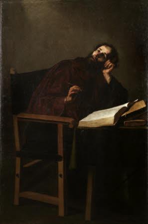 Saint Augustine, Bishop of Hippo (354-430) in Meditation