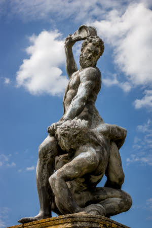 Samson slaying the Philistine (after Giambologna)