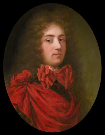 An Unknown Gentleman in a Red Cloak over Armour
