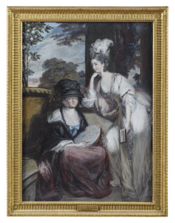 Sarah Jodrell, Lady Ducie, formerly Mrs Robert Child (c.1740-1793), and her Daughter Sarah Anne ...