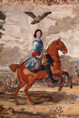 Peter The Great at the Battle of Poltawa