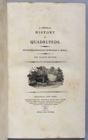 A general history of quadrupeds. . The figures engraved on wood by T. Bewick.