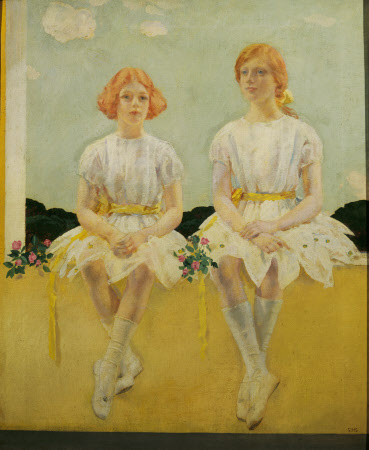 Two Girls Seated, Diana (1909-1963) and Sarah Churchill (1914-1982)
